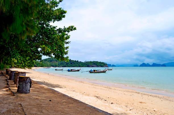 Pa Sai beach on Yao Noi island stock photo