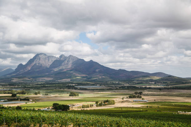 Paarl Mountains stock photo