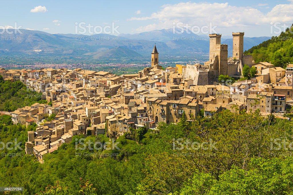 Pacentro średniowiecznej wiosce, Abruzzo, Włochy – zdjęcie