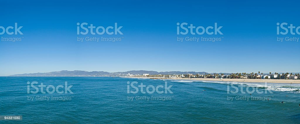 Pacific beach blue royalty-free stock photo
