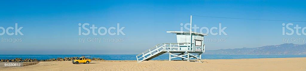 Pacific beach panorama royalty-free stock photo