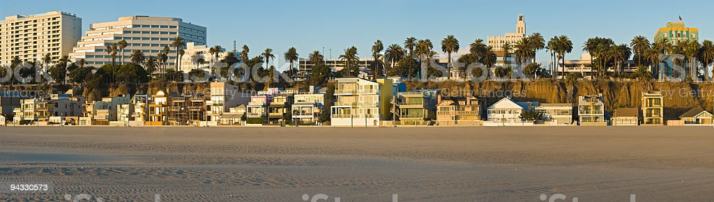 Pacific beach villas and hotels royalty-free stock photo