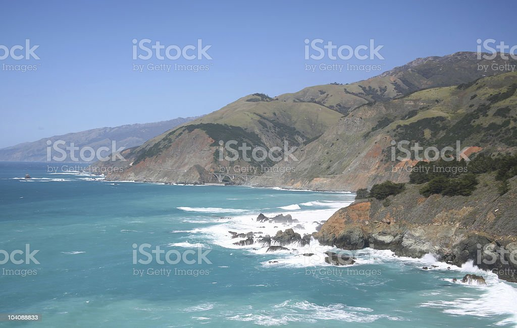 Pacific Blue - Big Sur, California royalty-free stock photo