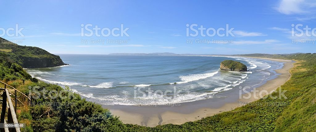 Pacific coast at on the Island of Chiloe in Chile stock photo