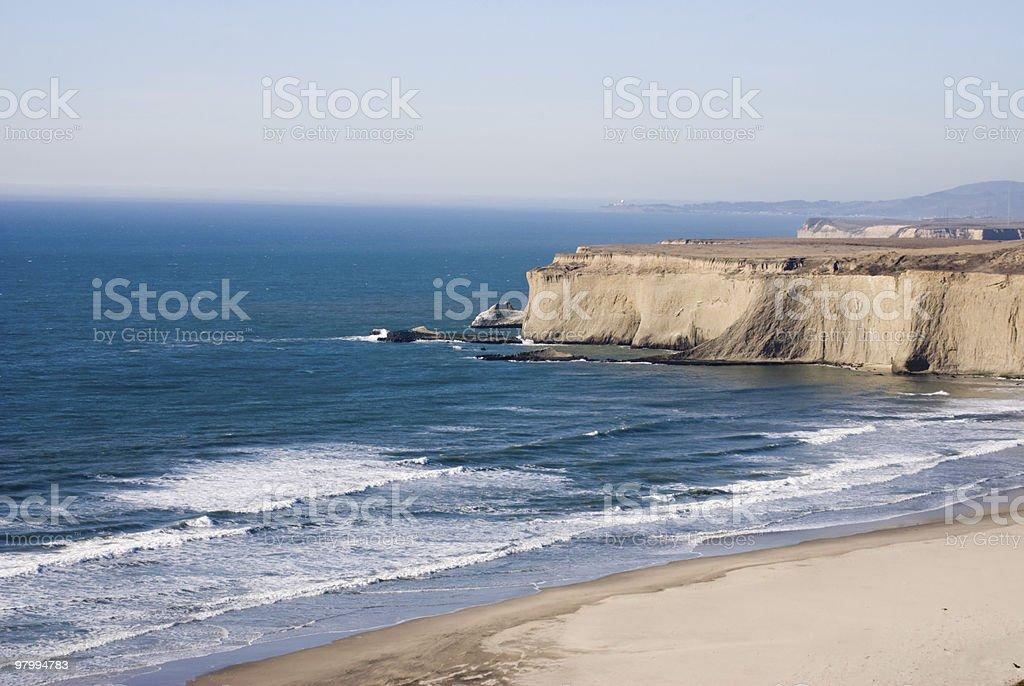 Pacific Coast California royalty-free stock photo