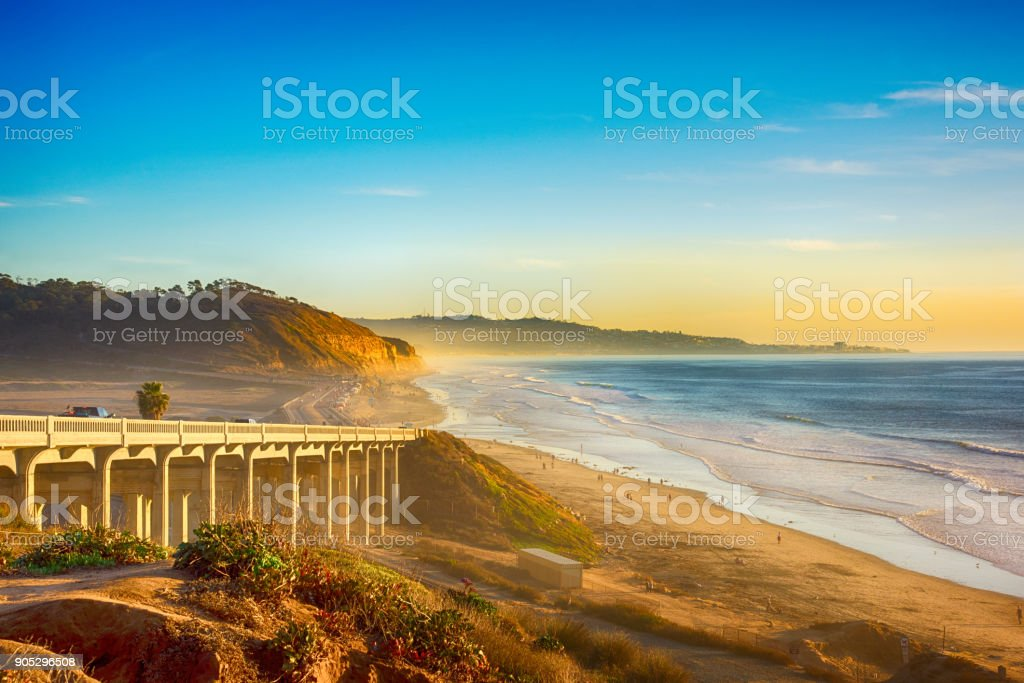Pacific Coast Highway 101 en Del Mar - foto de stock