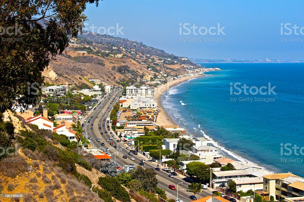 Pacific Coast Highway. royalty-free stock photo