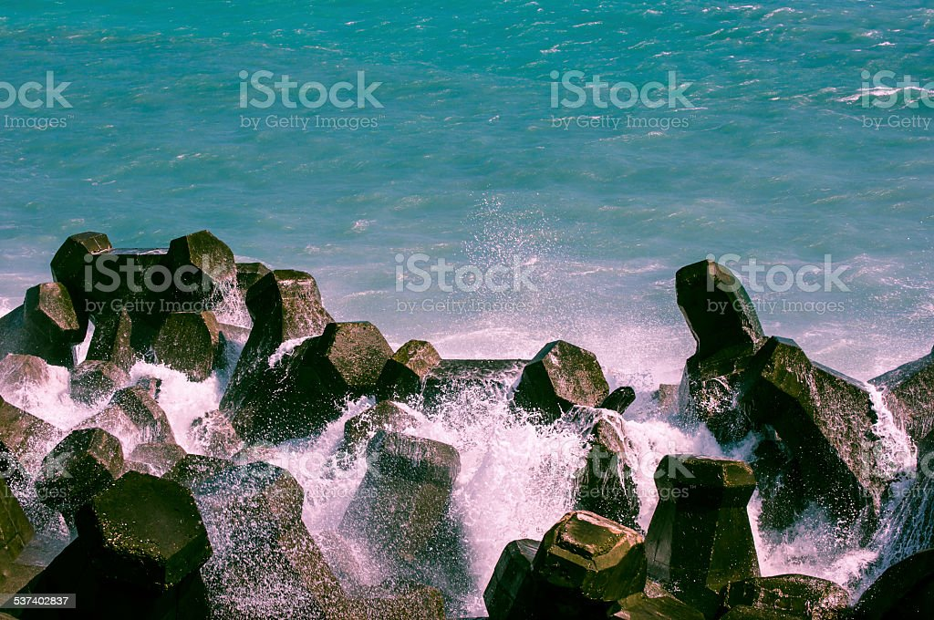 Pacific coast, Hualien City, Taiwan stock photo