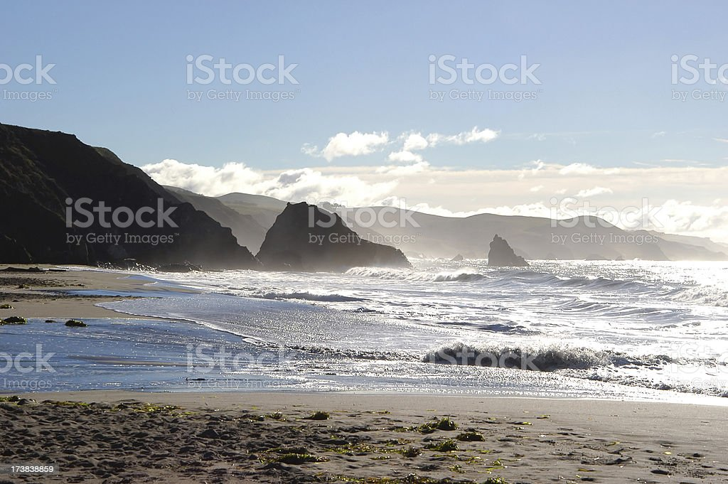 Pacific Coast in Bodega Bay, California royalty-free stock photo