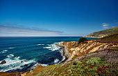 Pacific coast landscape in California, USA