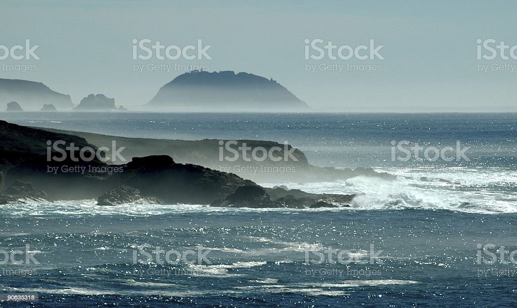 Pacific Coast near Big Sur stock photo