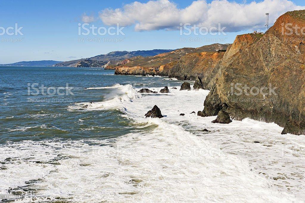 Pacific Coast Near San francisco royalty-free stock photo