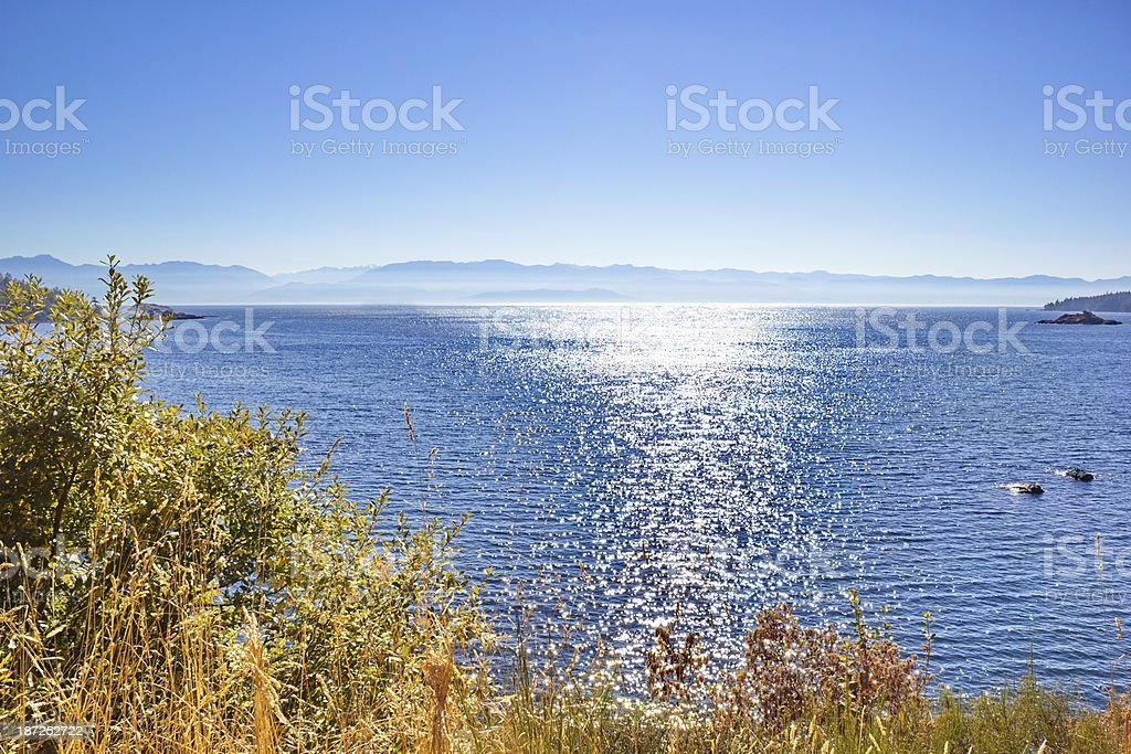 Pacific Coast Ocean to Mountain Views stock photo