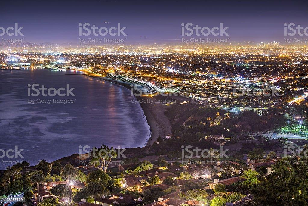 Pacific Coast of Los Angeles stock photo