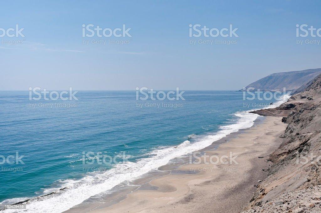 Pacific coast of Peru royalty-free stock photo