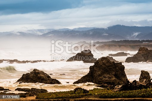 Pacific coastline of California USA, north of Fort Bragg.