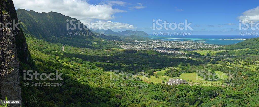 Pacific coastline, Hawaii stock photo