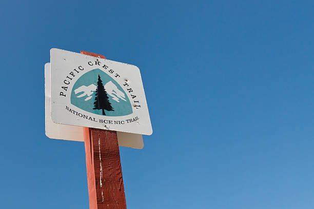 Pacific Crest Trail Sign stock photo