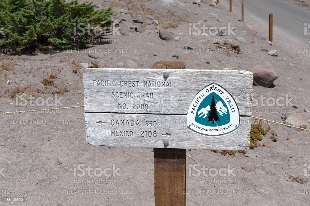 Pacific Crest Trail Timberline Ski Resort Mount Hood Oregon Summer stock photo