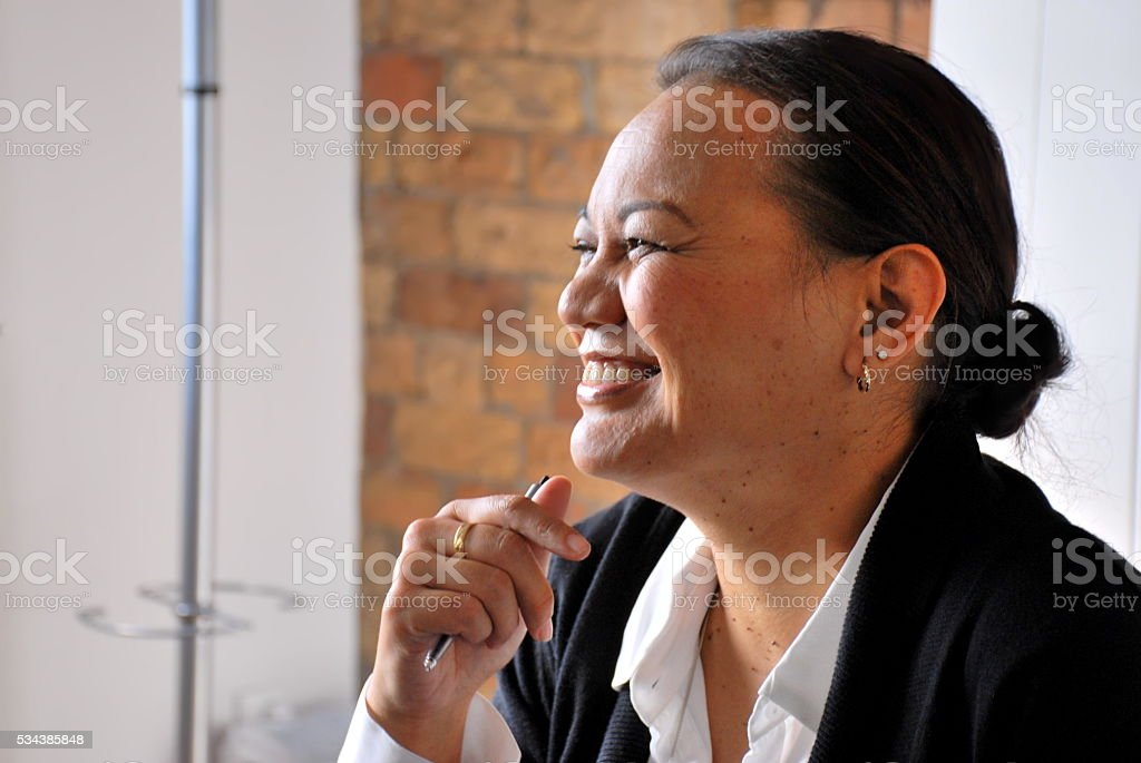 Pacific Island Business Woman stock photo