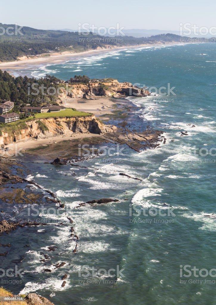Pacific Northwest coast in Oregon, USA stock photo