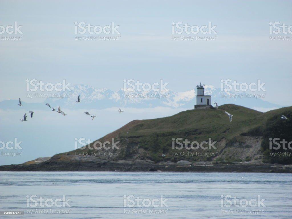 Pacific Northwest Lighthouse stock photo