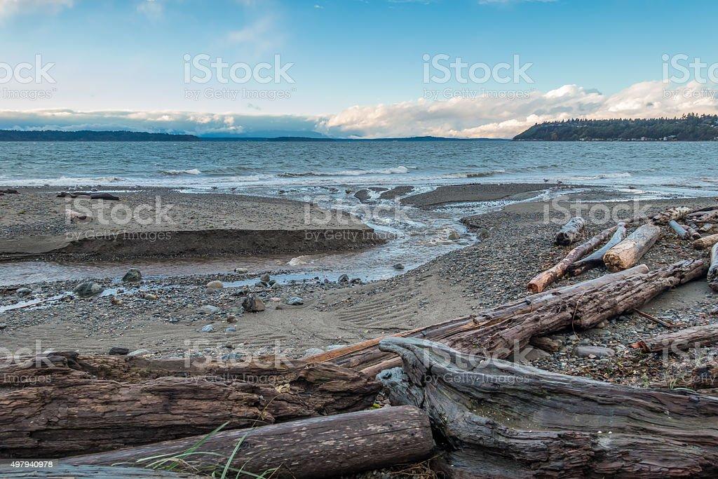 Pacific Northwest Seascape stock photo