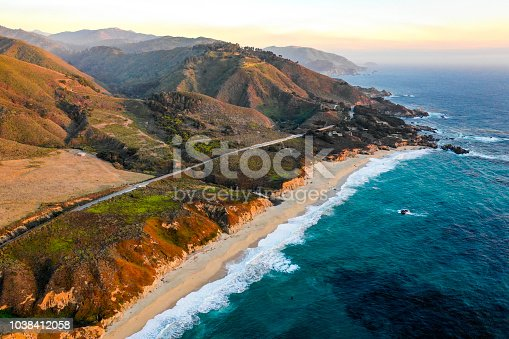 The pacific ocean at Big Sur, California