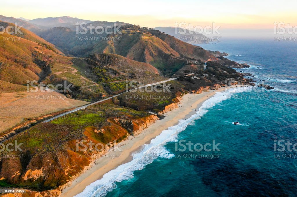 Pacific Ocean at Big Sur stock photo