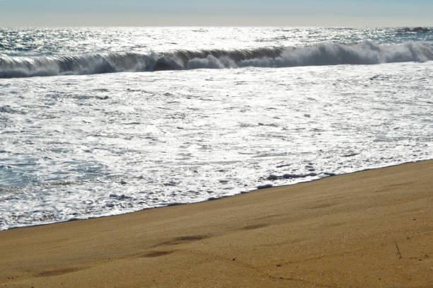 Pacific ocean beach stock photo