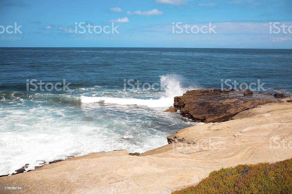 Pacific Ocean Beach royalty-free stock photo