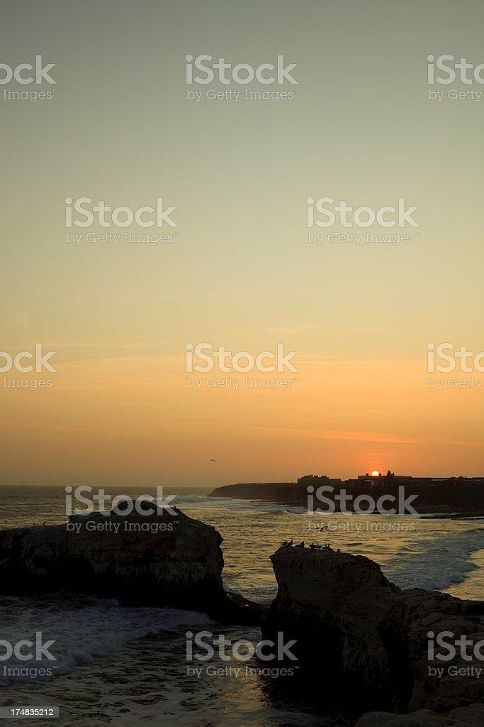 Pacific Ocean California Sunset royalty-free stock photo