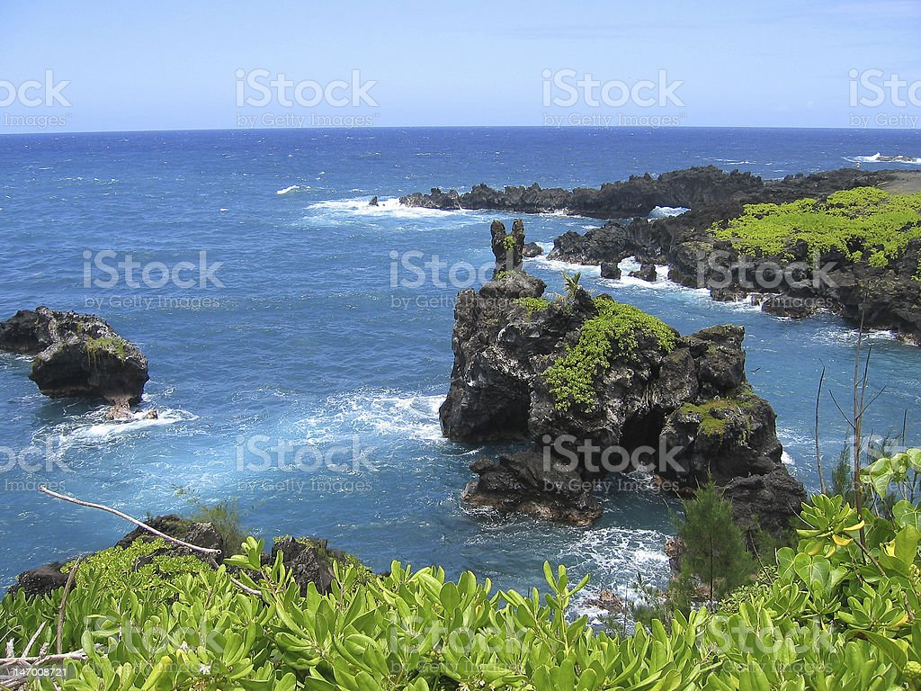 Pacific Ocean Lanscape on Maui royalty-free stock photo