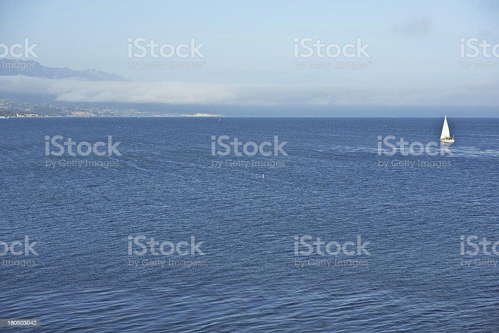 Pacific Ocean Santa Barbara royalty-free stock photo