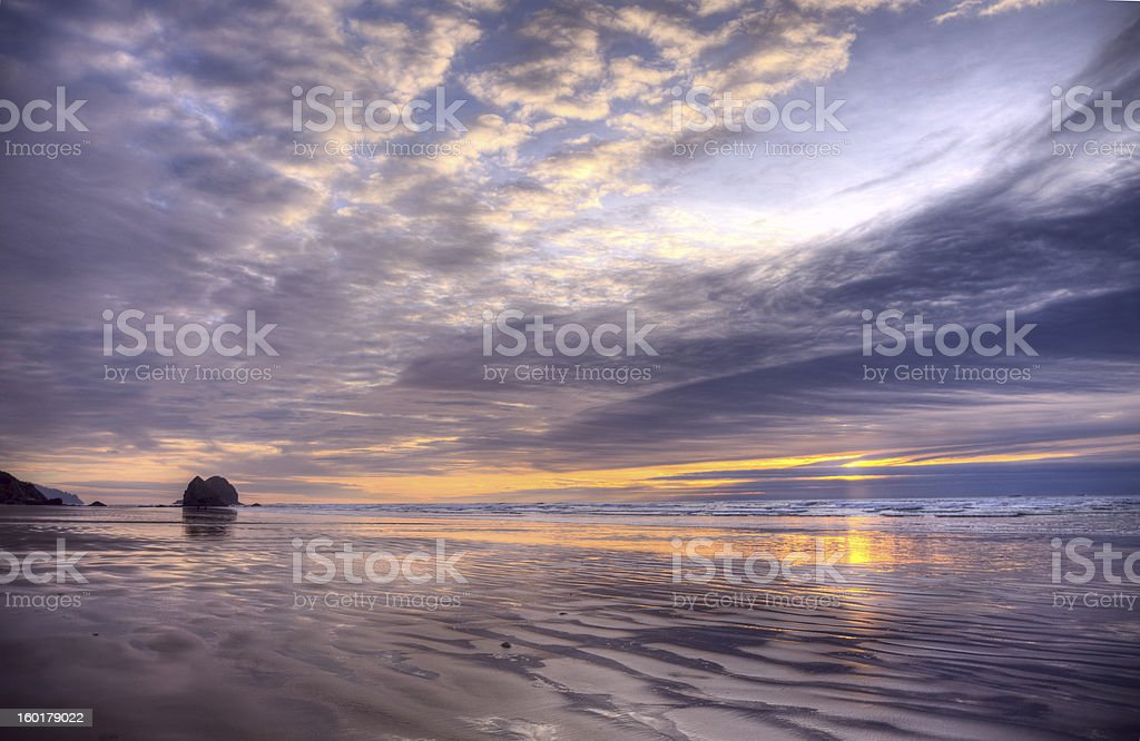Pacific ocean sunset royalty-free stock photo