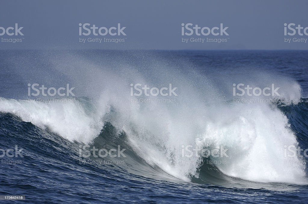 Pacific Ocean Wave royalty-free stock photo