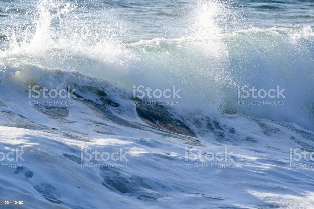 Ondas do Oceano Pacífico - Foto de stock de Arrebentação royalty-free