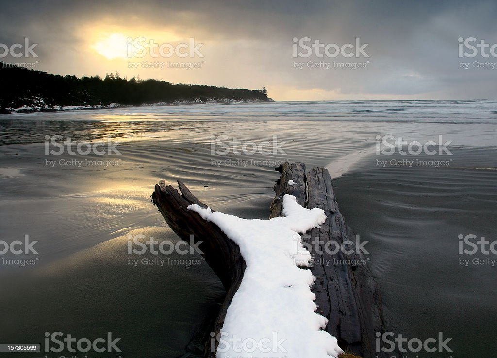 Pacific Ocean Winter Scenic royalty-free stock photo