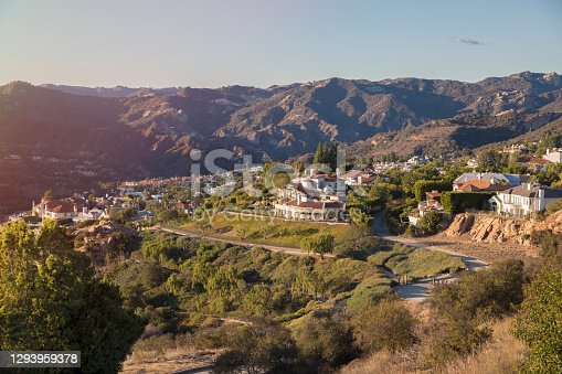 istock Pacific Palisades houses and Santa Monica mountains. Southern California 1293959378