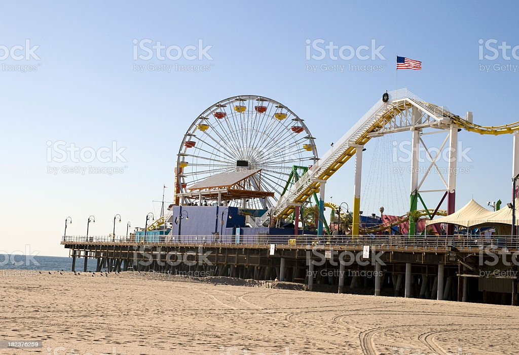 Pacific Park at Santa Monica Pier royalty-free stock photo