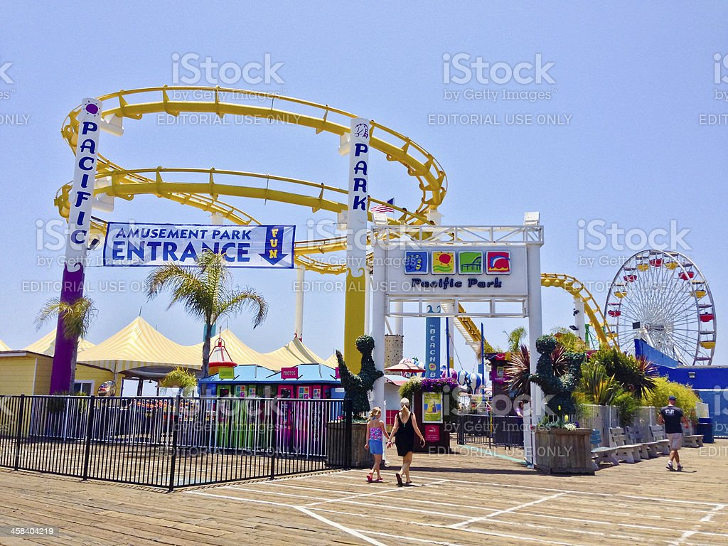 Pacific Park on Santa Monica Pier royalty-free stock photo