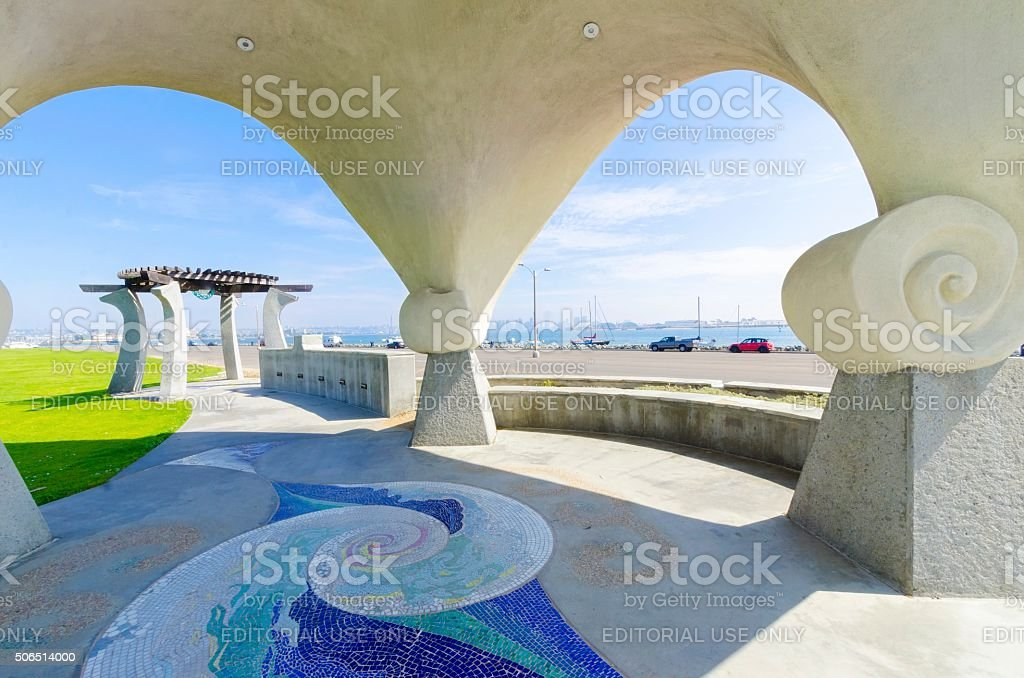 Pacific Portal, Shelter island, Point Loma stock photo