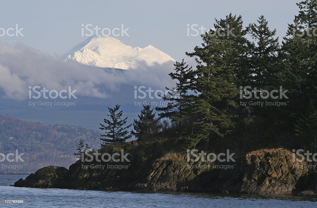 Pacific Rim Volcano royalty-free stock photo