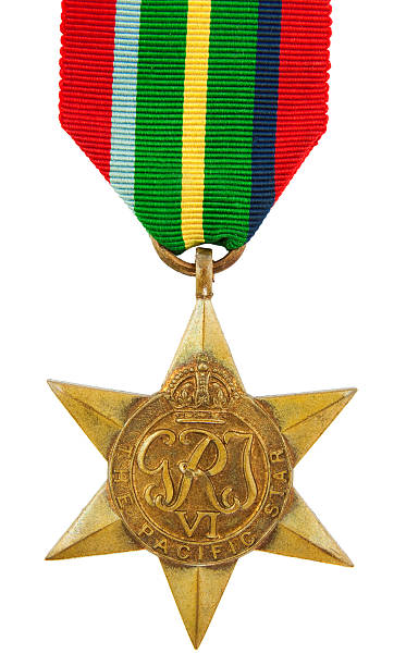 Pacific Star Medal stock photo