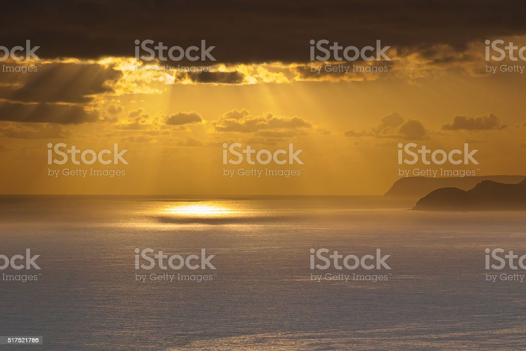 Pacific Sunrise stock photo