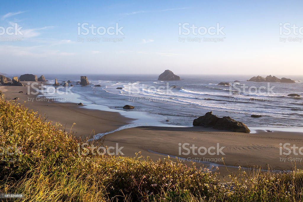 Pacific sunset stock photo