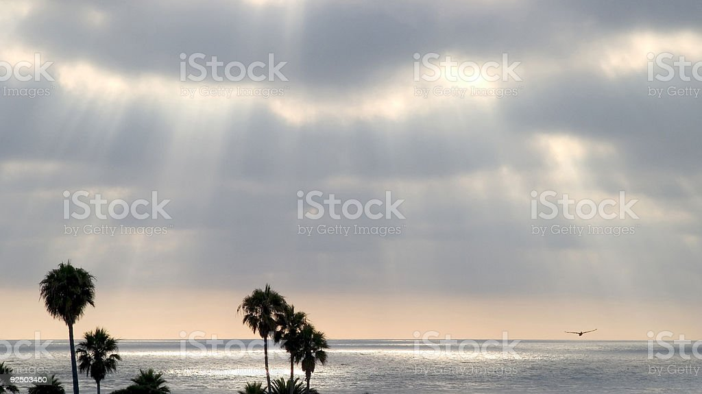 Pacific Sunset royalty-free stock photo