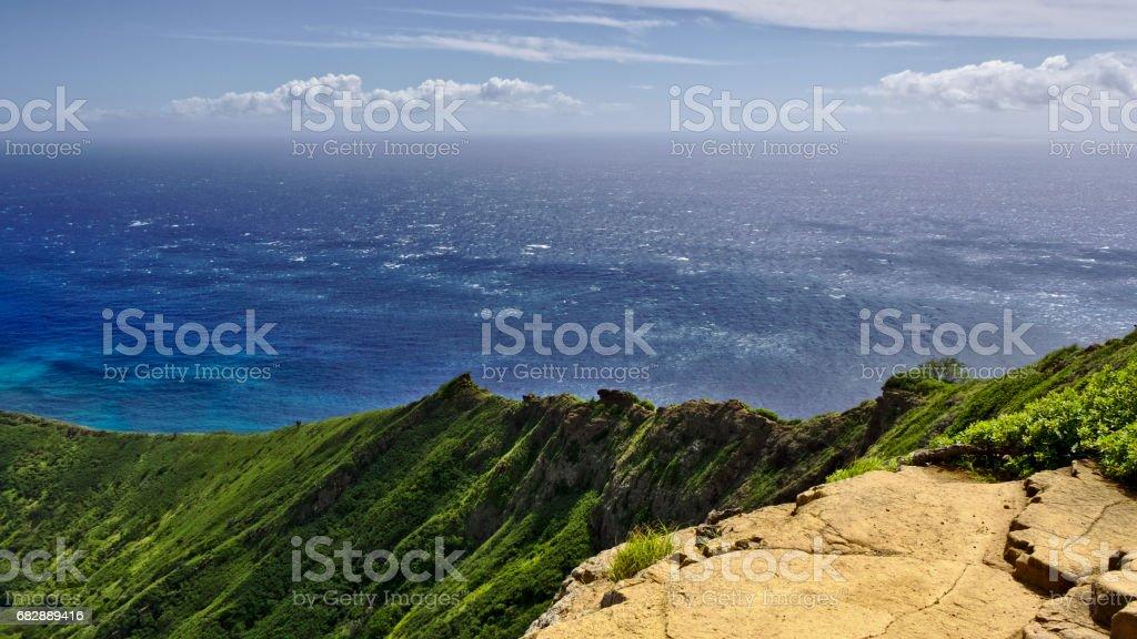 Pazifik Ansicht auf Oahu, Hawaii Lizenzfreies stock-foto