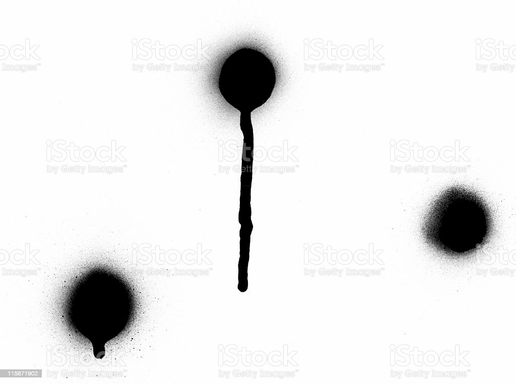 Pack of 3 - Spray Paint Drips royalty-free stock photo
