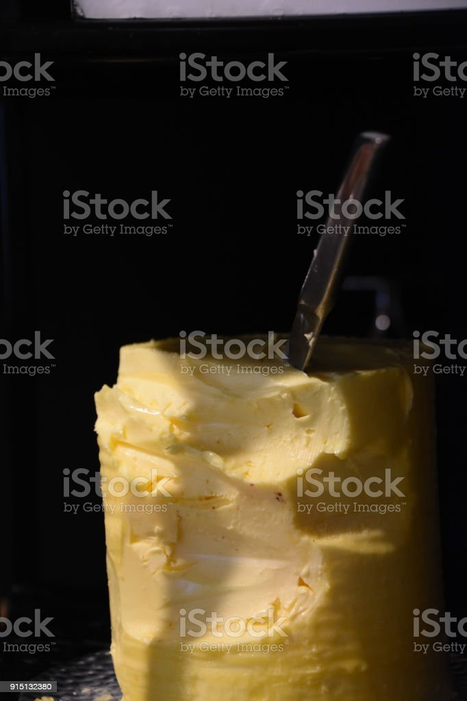 Pack of butter-LOW KEY stock photo